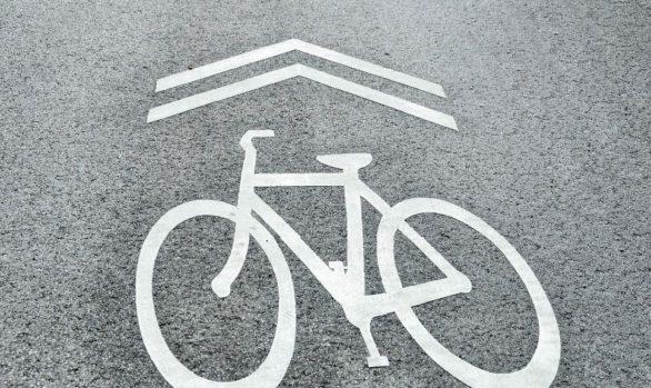 Fahrradspur