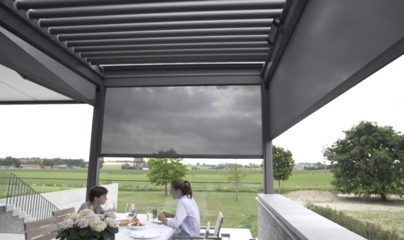 Metallic structure for outdoor pergola