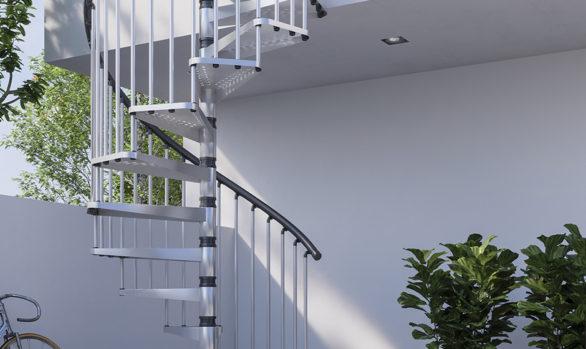 Treppe aus verzinktem Eisen